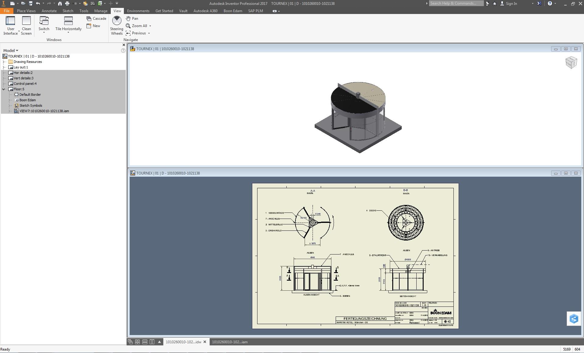 Für die mechanische Konstruktion ihrer Eingangslösungen nutzt Boon Edam Inventor.