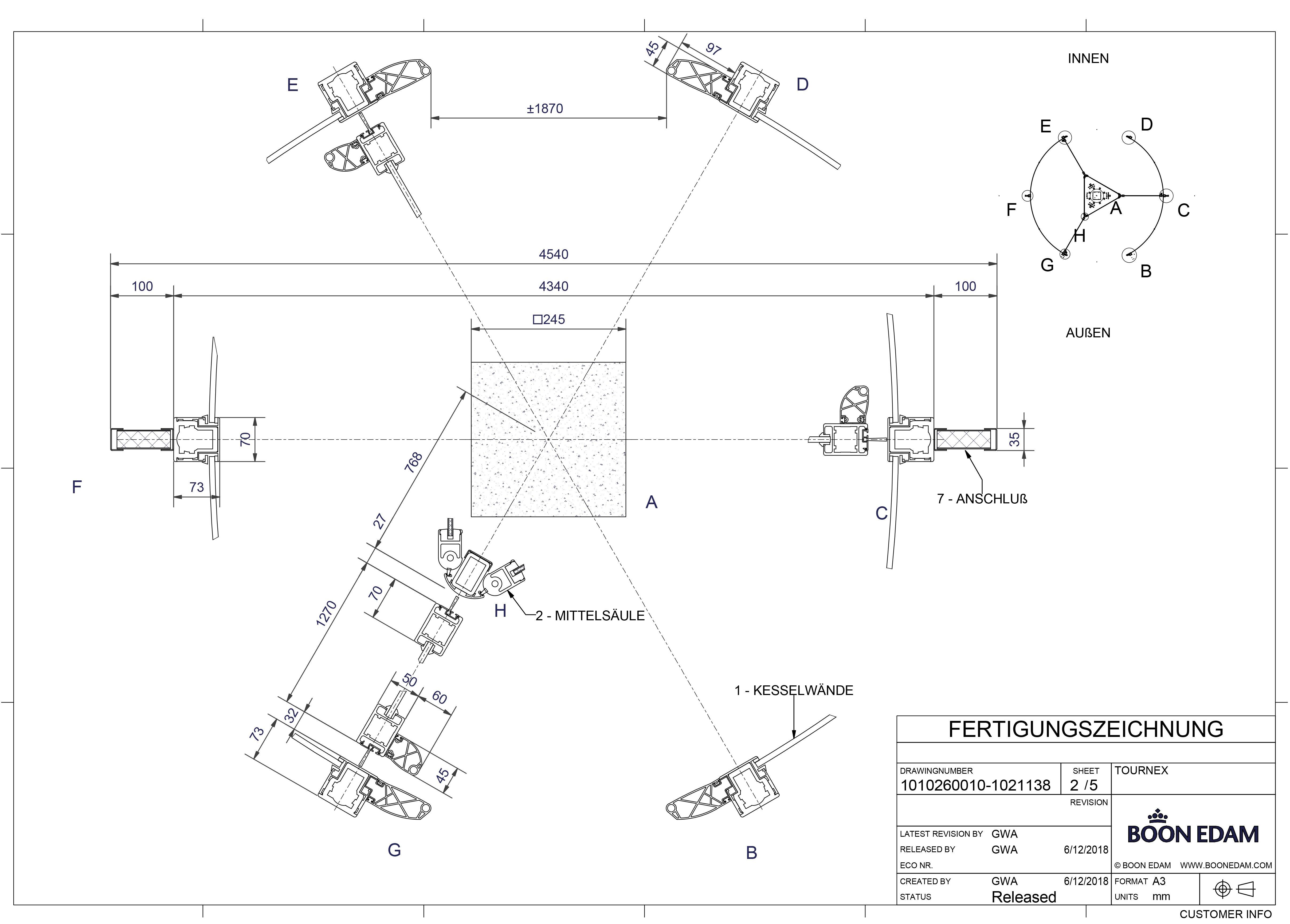 Über die Cideon Conversion Engine werden freigegebene Zeichnungen aus der Konstruktion automatisch als PDF generiert und stehen logistischen ERP-Prozessen unternehmensweit zur Verfügung.