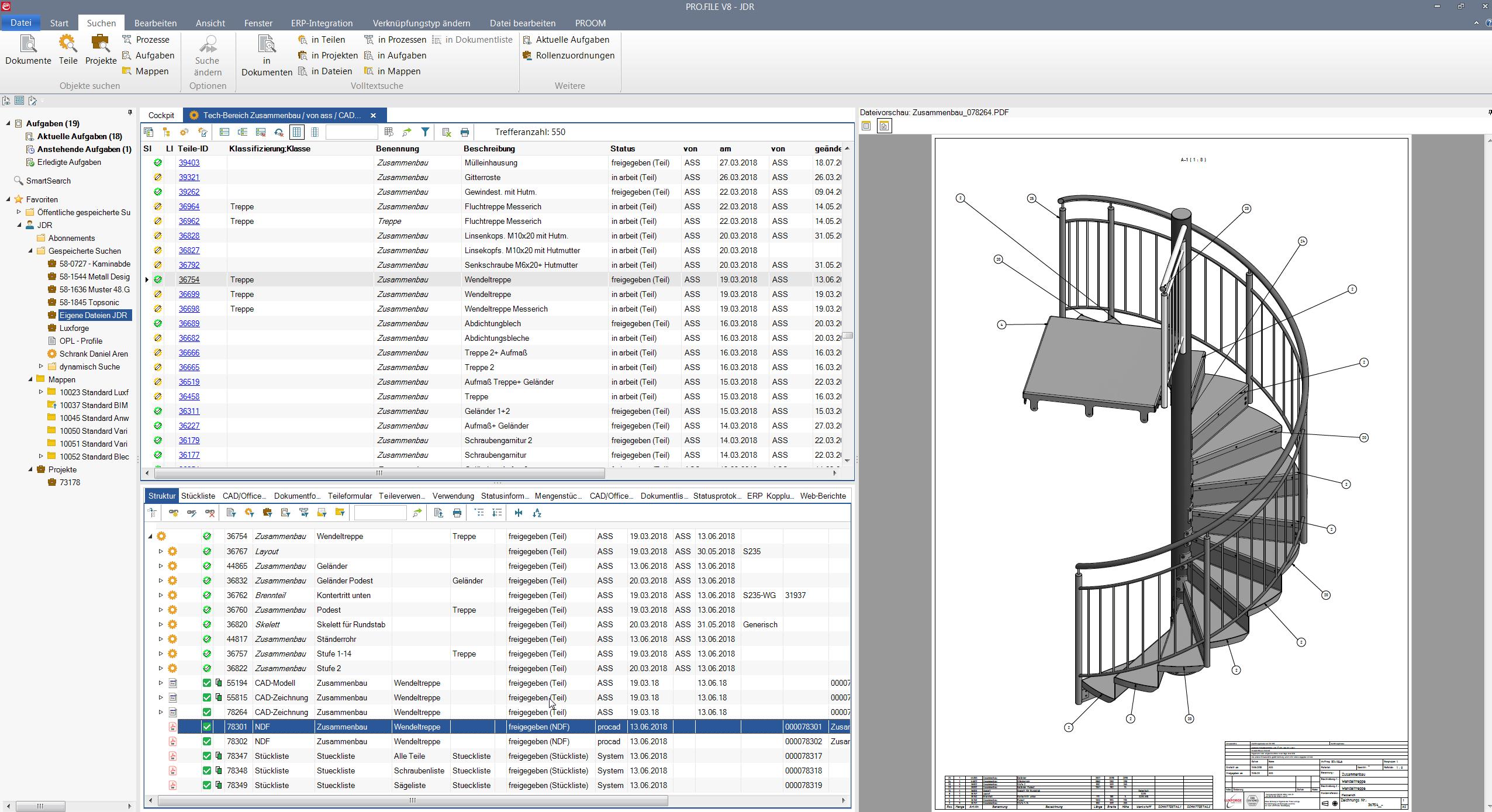 Cideon hat das Datenmanagement-System PRO.FILE direkt in Autodesk Inventor integriert. PRO.FILE haromiert perfekt in Multi-CAD-Umgebungen in Verbindung mit ERP-Anwendungen.