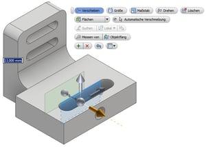 """CAD-Modelle aus fremden Systemen bearbeiten: Die Funktion """"Direkt Bearbeiten"""" am Beispiel """"Verschieben""""."""