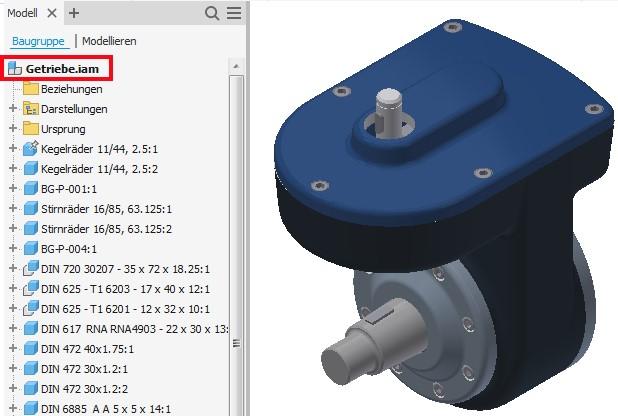 CAD-Modelle aus fremden Systemen enthalten häufig mehrere Bauteile und Unterbaugruppen, die für den eigentlichen Zweck gar nicht erforderlich sind.