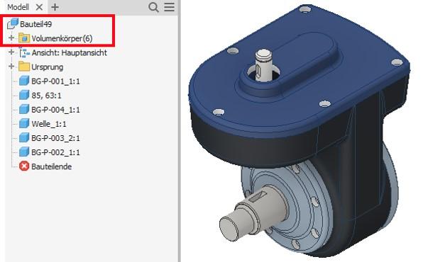 CAD-Modelle aus fremden Systemen importieren: Ein mögliches Ergebnis nach dem angepassten Import nach Inventor.
