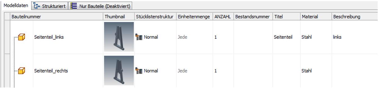 iProperties per Stückliste ändern_Informationen eintragen