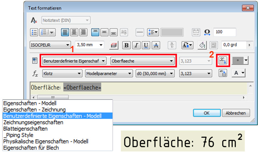 iProperty Oberfläche_neue benutzerdefinierte Eigenschaft auslesen