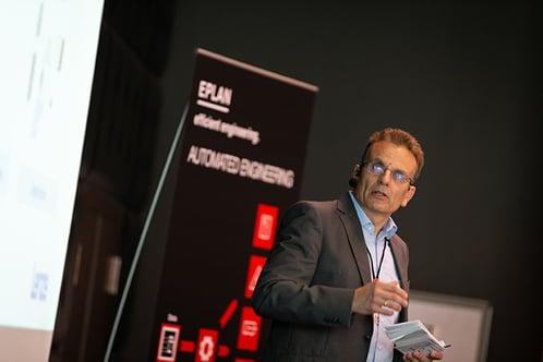 Gerd Schüler von Lenze auf dem EEC Forum 2019.