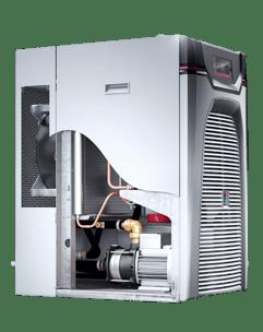 Der energieeffizientere, invertergeregelte Kompressor im Chiller Blue e+.