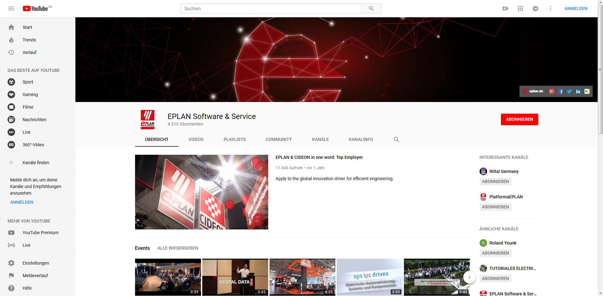 EPLAN YouTube