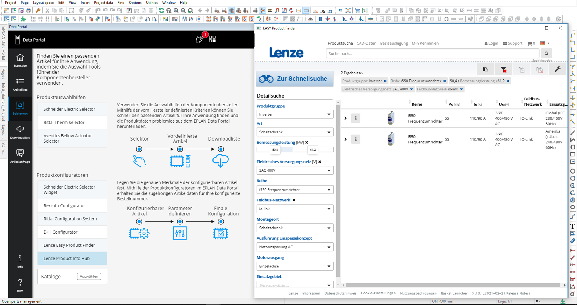 Lenze Easy Product Finder