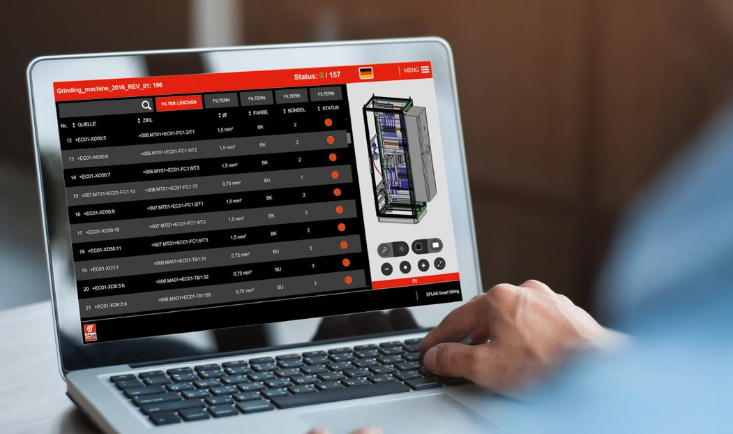 Eplan Smart Wiring ist eine innovative  Software für die Verdrahtung von Schaltschränken in der Fertigung.