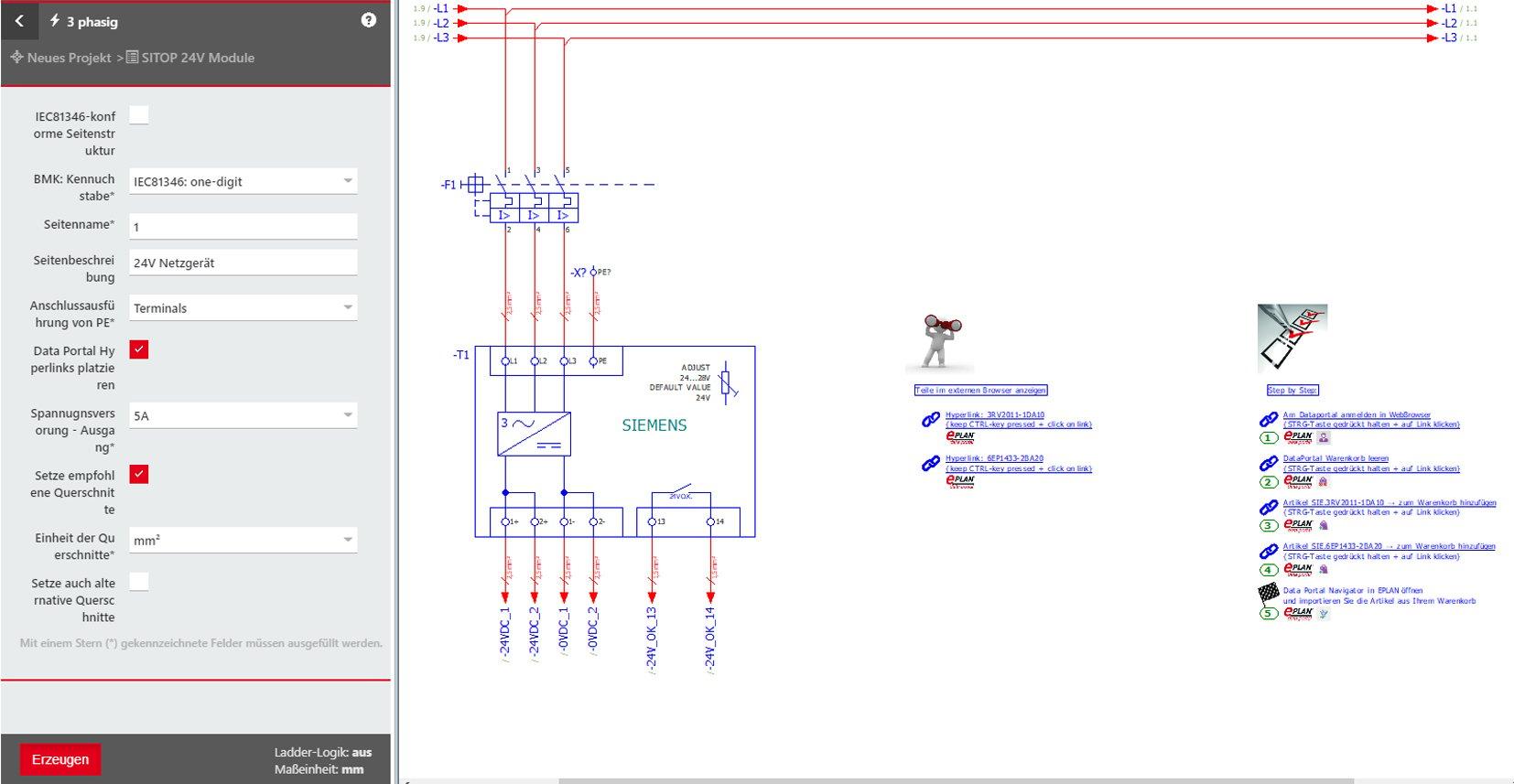Teilfunktion 24V Netzgerät