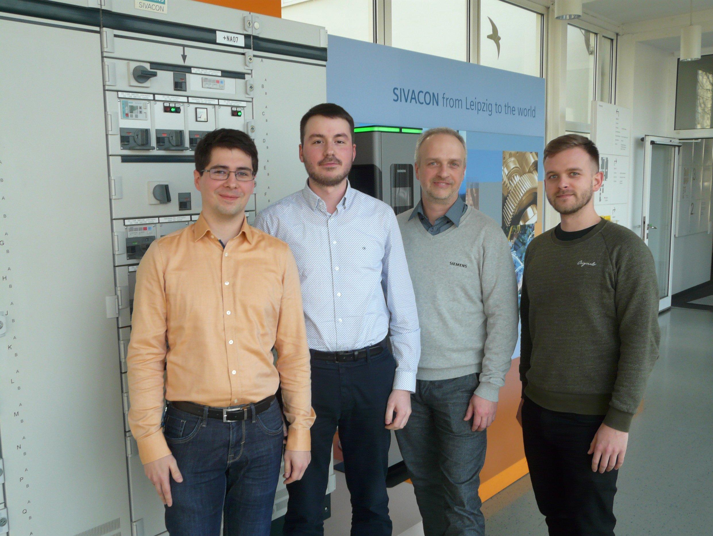 Das Projektteam bei Siemens in Leipzig
