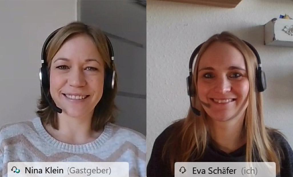 Nina Klein und Eva Schäfer erklärten das neue Webcast-Konzept bei Eplan.
